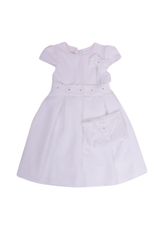 SİMİSSO - Simisso Çantalı Elbise 324 | Beyaz