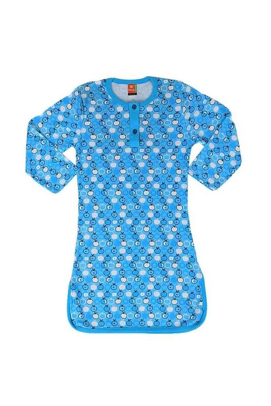 SİMİSSO - Simisso Penye Gecelik 407   Mavi
