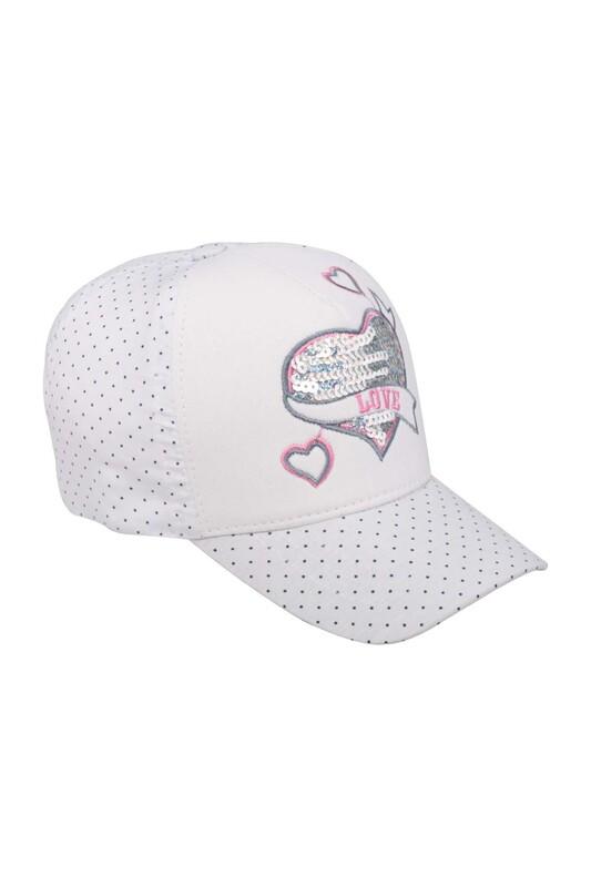 Fatih - Love Kız Çocuk Şapka   Beyaz