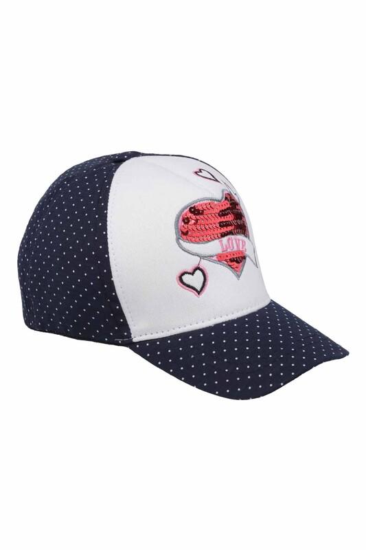 Fatih - Love Kız Çocuk Şapka   Lacivert