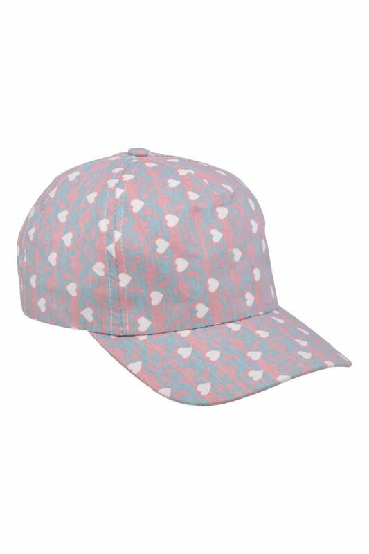 Fatih - Kalpli Kız Çocuk Şapka   Mavi