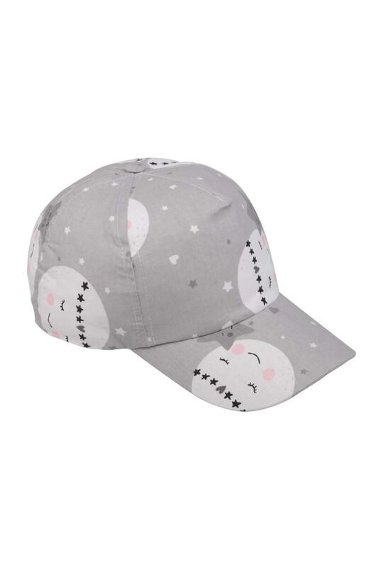 Fatih - Yıldız Desenli Kız Çocuk Şapka   Gri