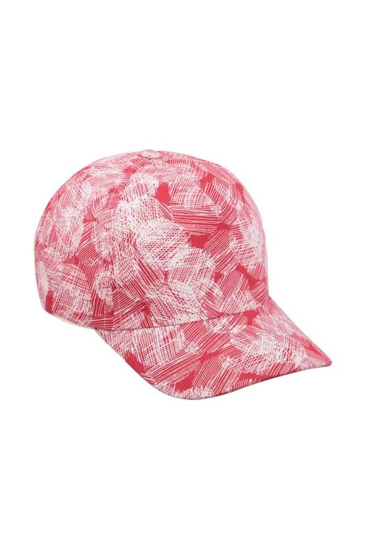 SİMİSSO - Desenli Kız Çocuk Şapka Kırmızı