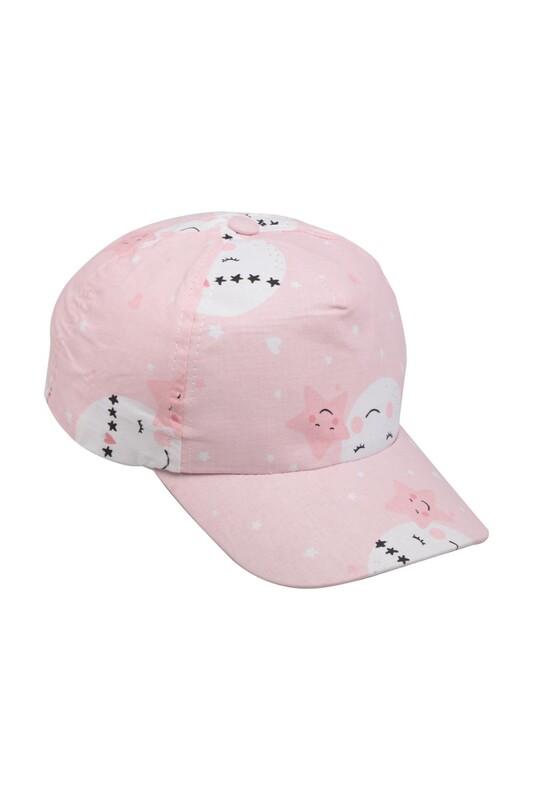 SİMİSSO - Yıldız Desenli Kız Çocuk Şapka Pembe