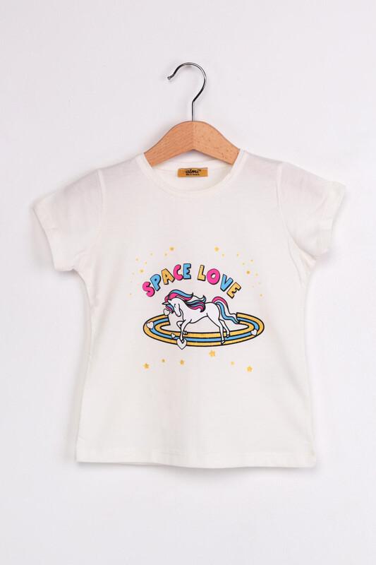 ALMİ - Çocuk Space Love Baskılı Tshirt | Ekru