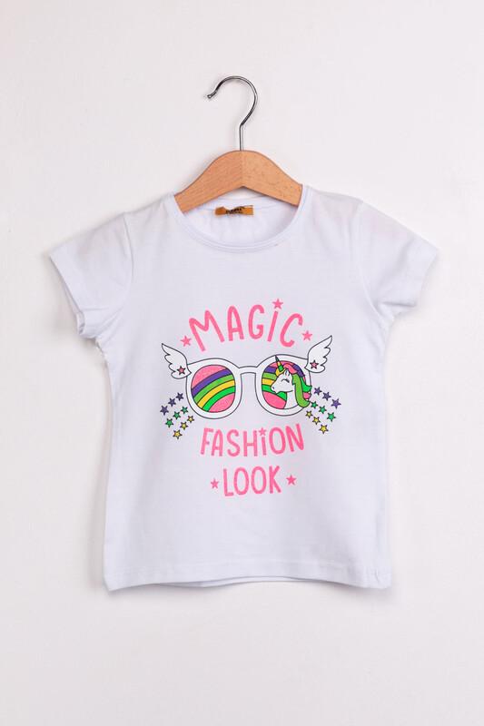 ALMİ - Çocuk Magıc Fashion Look Baskılı Tshirt | Beyaz