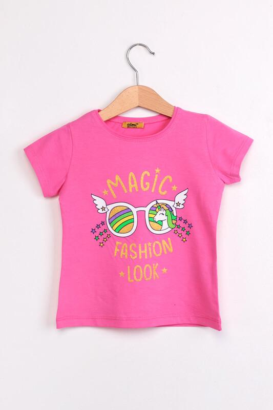 ALMİ - Çocuk Magıc Fashion Look Baskılı Tshirt | Pembe