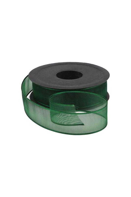 SİMİSSO - Şifon Kurdele 2,5 cm 20 mt   Koyu Yeşil