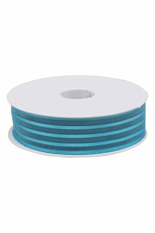 SİMİSSO - Çizgili Şifon Kurdele 2.5 cm 20 mt | Mavi