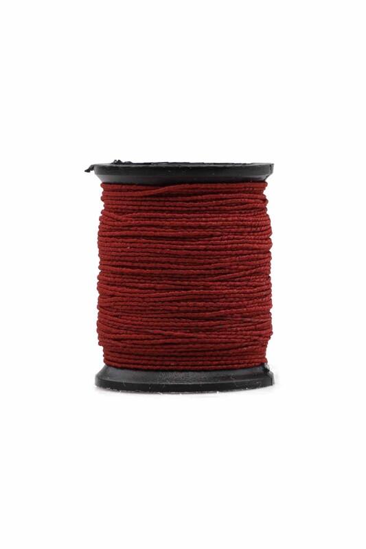 SİMİSSO - Makara Lastik İp   Koyu Kırmızı