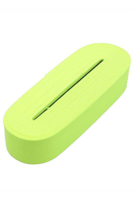SİMİSSO - Tek-İş Yassı Lastik 4 Cm Neon Yeşil