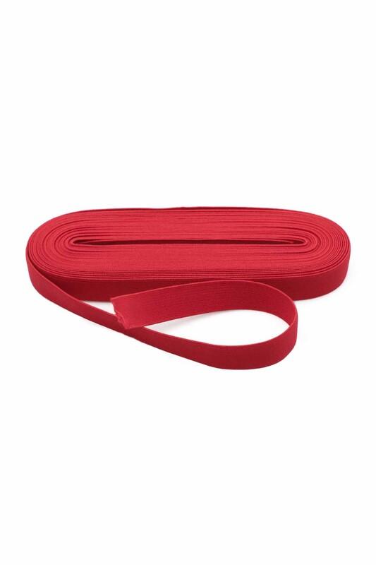 TEK-İŞ - Tek iş Yassı Lastik 2 cm   Kırmızı