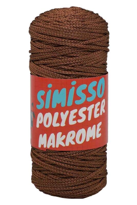 SİMİSSO - Polyester Makrome İpi 100 gr   Kahverengi
