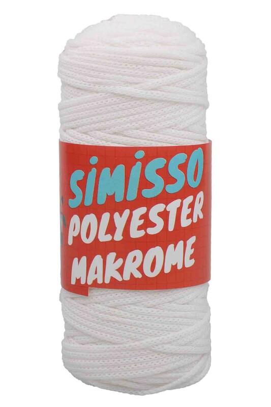 SİMİSSO - Polyester Makrome İpi 100 gr | Beyaz