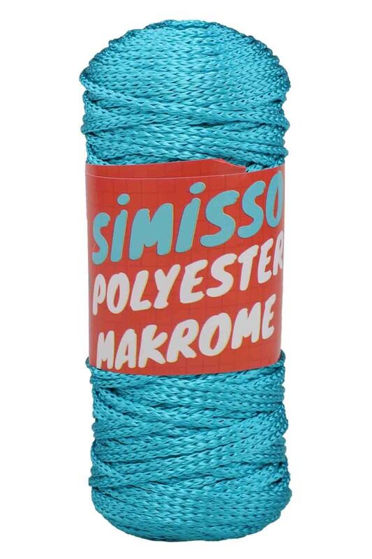 SİMİSSO - Polyester Makrome İpi 100 gr | Turkuaz