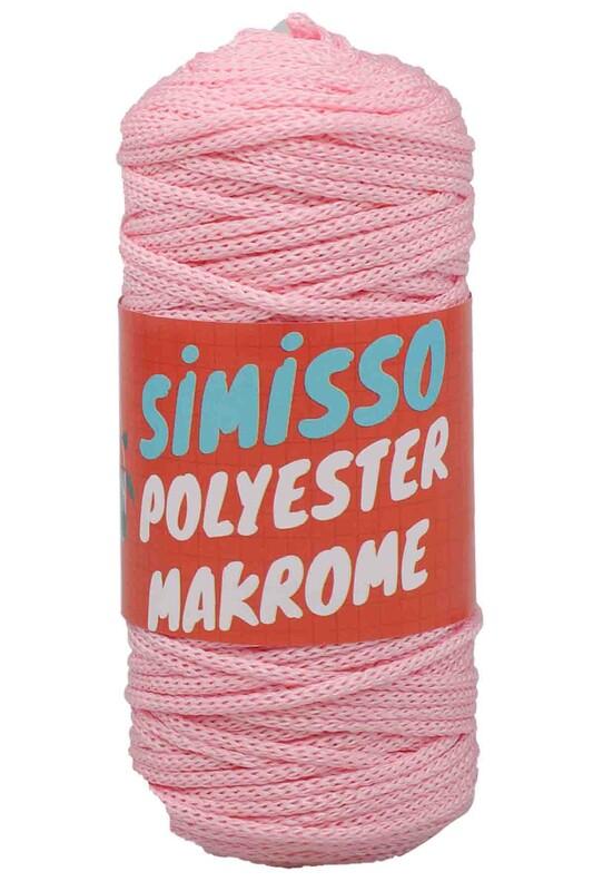 SİMİSSO - Polyester Makrome İpi 100 gr   Bebe Pembe