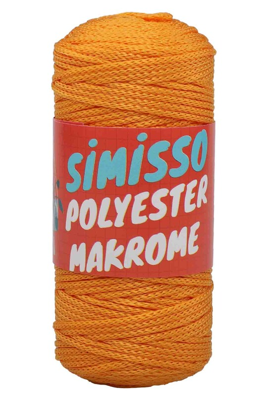 SİMİSSO - Polyester Makrome İpi 100 gr | Açık Turuncu