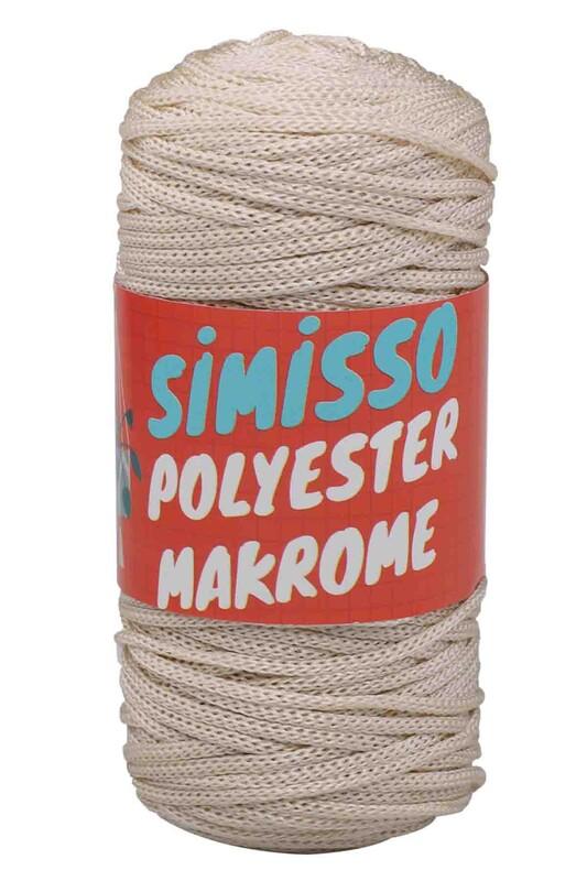 SİMİSSO - Polyester Makrome İpi 100 gr | Krem