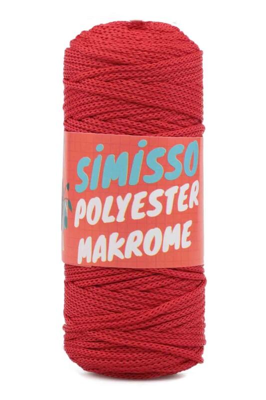 SİMİSSO - Polyester Makrome İpi 100 gr | Kırmızı