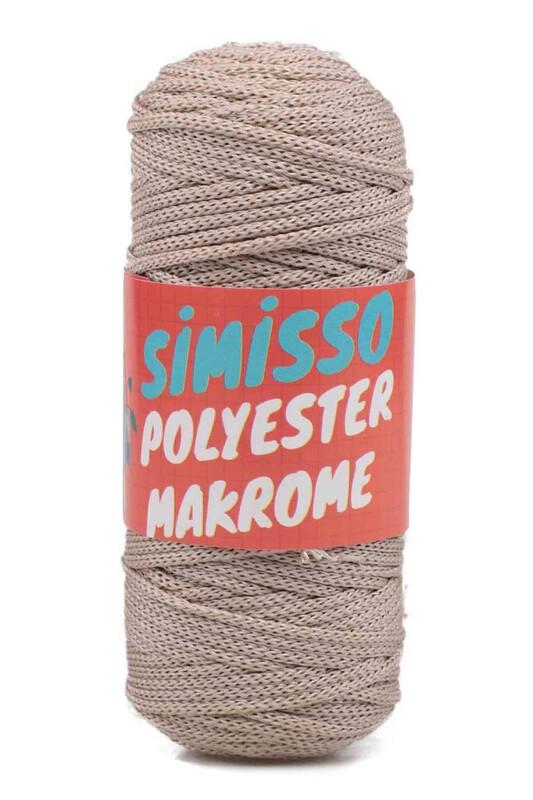 SİMİSSO - Polyester Makrome İpi 100 gr | Bej