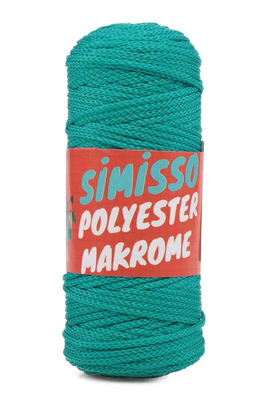 SİMİSSO - Polyester Makrome İpi 100 gr | Yeşil