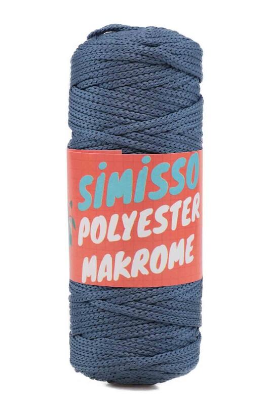 SİMİSSO - Polyester Makrome İpi 100 gr | İndigo