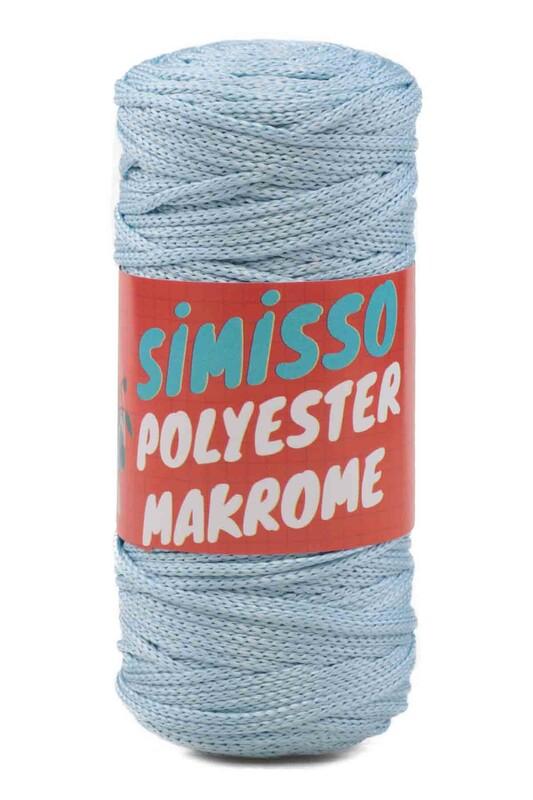 SİMİSSO - Polyester Makrome İpi 100 gr | Bebe Mavi