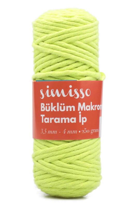 SİMİSSO - Simisso Tarama Makrome İpi Neon Yeşil 803