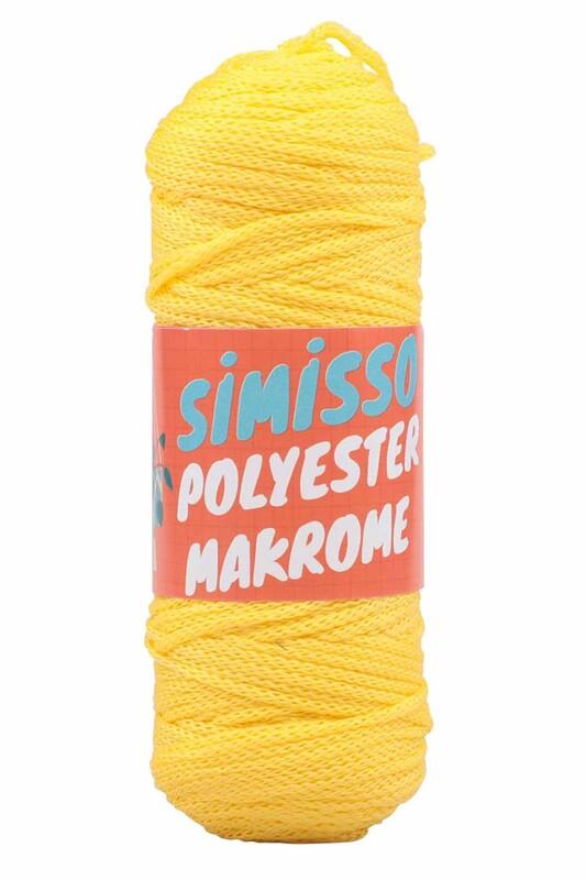 SİMİSSO - Polyester Makrome İpi 100 gr   Limon Sarı