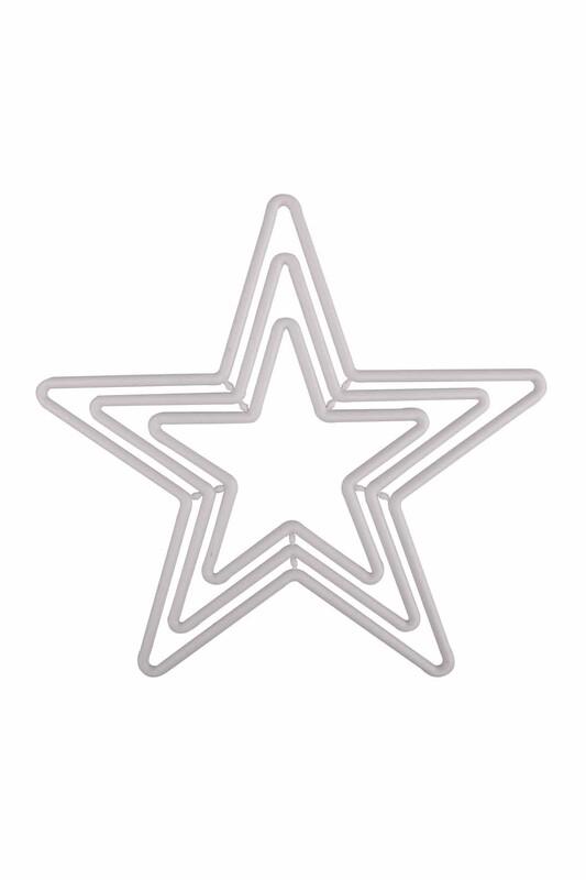 MİR PLASTİK - Yıldız Makrome Halkası 3'lü