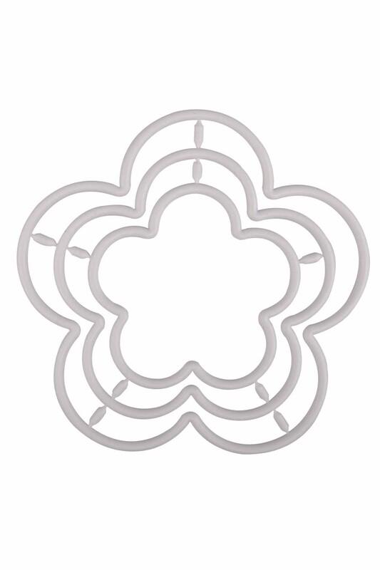 MİR PLASTİK - Çiçek Makrome Halkası 3'lü