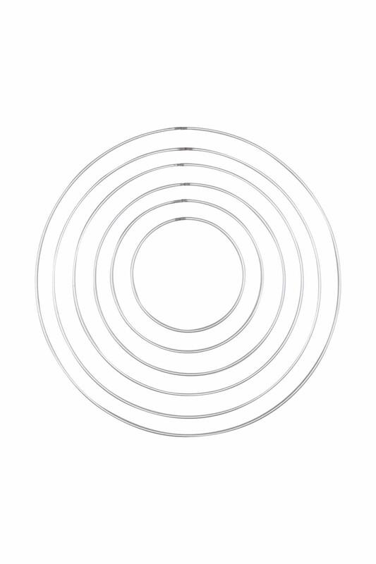 SİMİSSO - Metal Düş Kapanı Makrome Halkası 6 Boy
