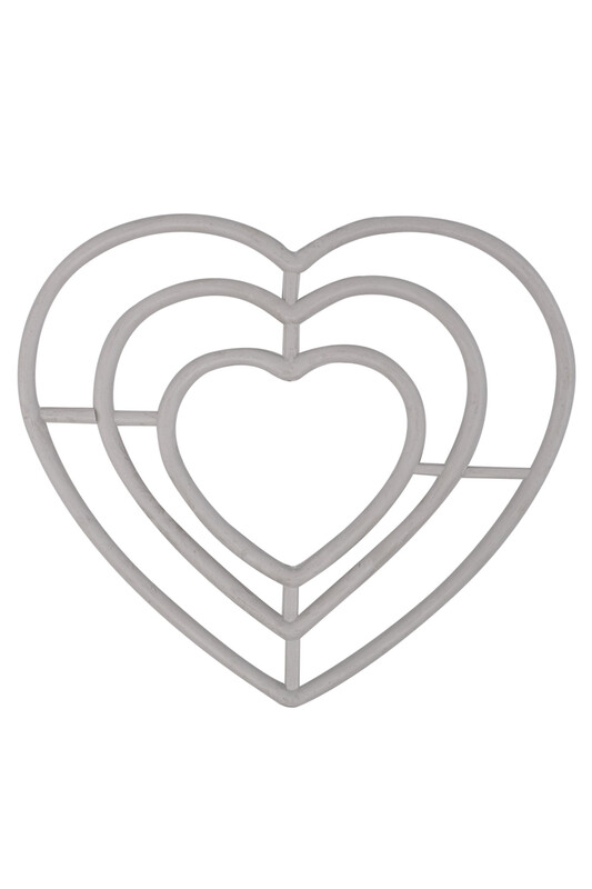 SİMİSSO - Simisso Plastik Kalp Makrome Halkası 3'lü 1 No