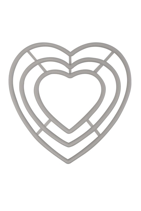 SİMİSSO - Simisso Plastik Kalp Makrome Halkası 3'lü 2 No