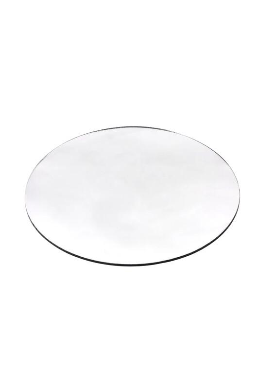 SİMİSSO - Makrome Aynalı Pleksi 20X20 Gümüş