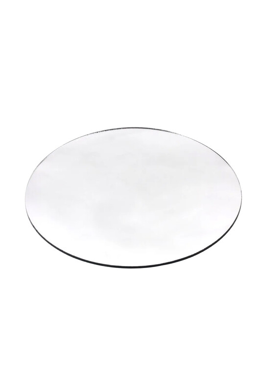 SİMİSSO - Makrome Aynalı Pleksi 30X30 Gümüş