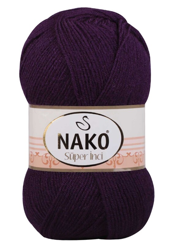 NAKO - Nako Süper İnci El Örgü İpi 100 gr | Mor 3260