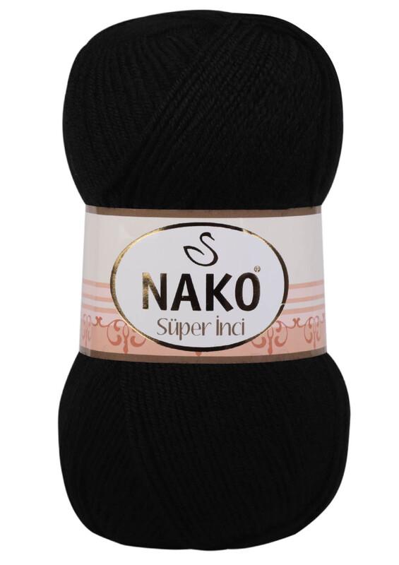 NAKO - Nako Süper İnci El Örgü İpi 100 gr | Siyah 217