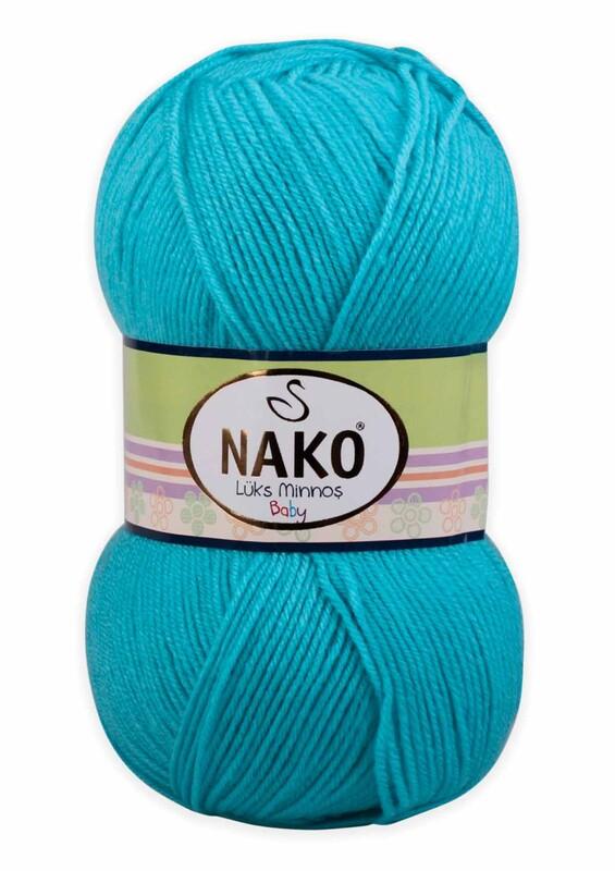 NAKO - Nako Lüks Minnoş El Örgü İpi 100 gr | Turkuaz 3323