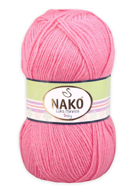 NAKO - Nako Lüks Minnoş El Örgü İpi 100 gr | Gül Pembe 236