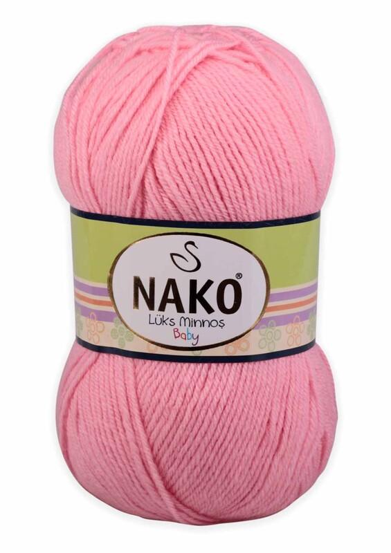 NAKO - Nako Lüks Minnoş El Örgü İpi 100 gr | Barby Pembe 2244