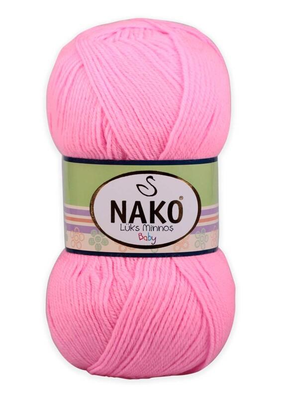 NAKO - Nako Lüks Minnoş El Örgü İpi 100 gr | Pembe 11158