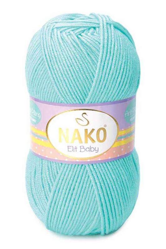 NAKO - Nako Elit Baby El Örgü İpi 100 gr | Açık Turkuaz 10535