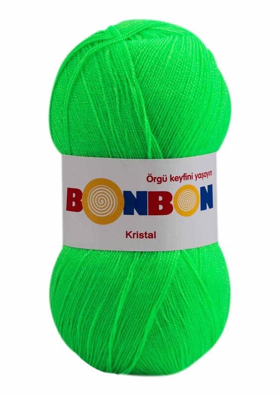 NAKO - Bonbon Kristal El Örgü İpi 100 gr | Neon Yeşil 98395