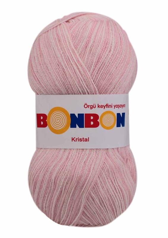 NAKO - Bonbon Kristal El Örgü İpi 100 gr | Pembe Due 99421