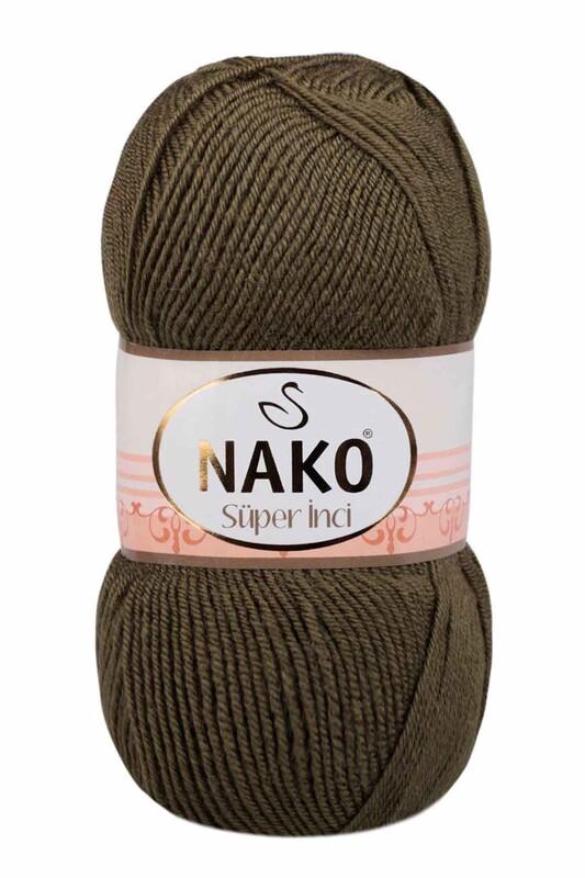 NAKO - Nako Süper İnci El Örgü İpi 100 gr | Haki 4234