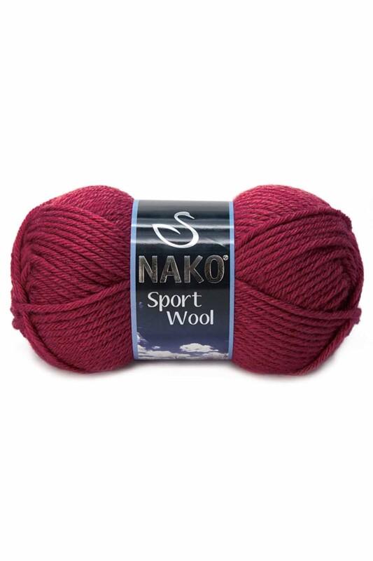 NAKO - Nako Sport Wool El Örgü İpi 100 gr Bordo 6592