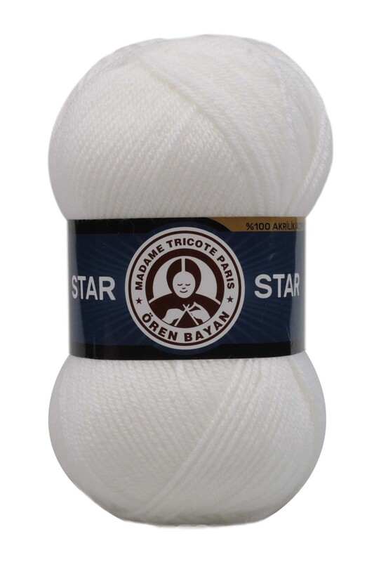 ÖREN BAYAN - Ören Bayan Star El Örgü İpi Beyaz 111