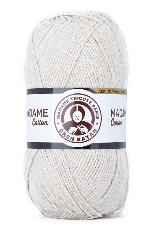 ÖREN BAYAN - Ören Bayan Madame Cotton El Örgü İpi Koyu Krem 034