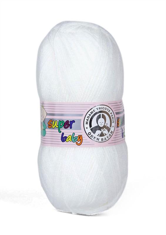 ÖREN BAYAN - Ören Bayan Süper Baby El Örgü İpi Beyaz 111